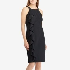 Lauren Ralph Lauren Ruffled Halter Dress Black